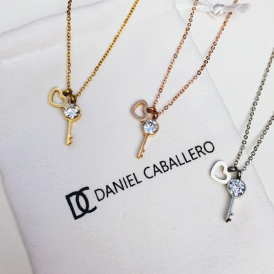 Daniel Caballero Halskette -Schlüssel zum Herzen